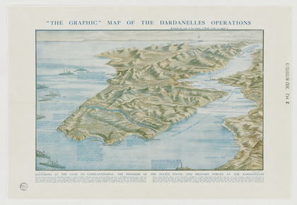 Graphic map of the Dardanelles